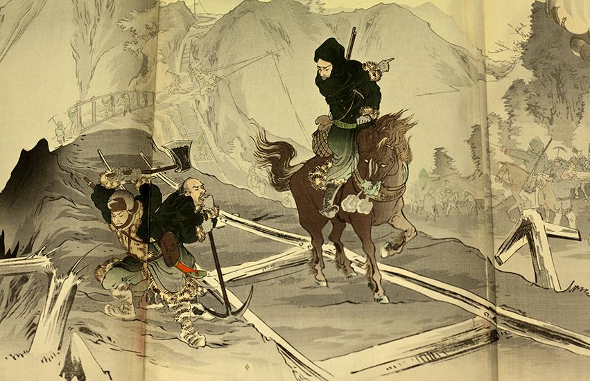 Détail d'une gravure japonnaise